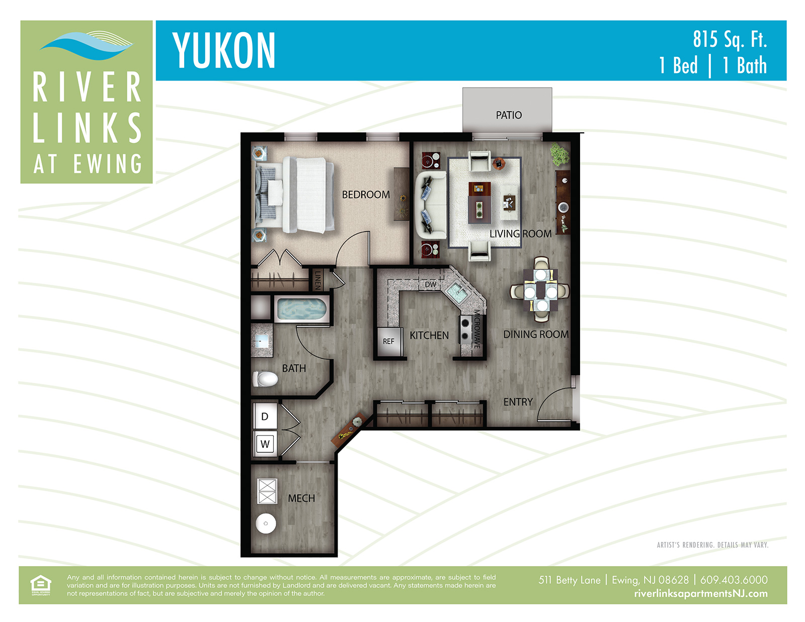 Yukon - 1 Bedroom/1 Bath