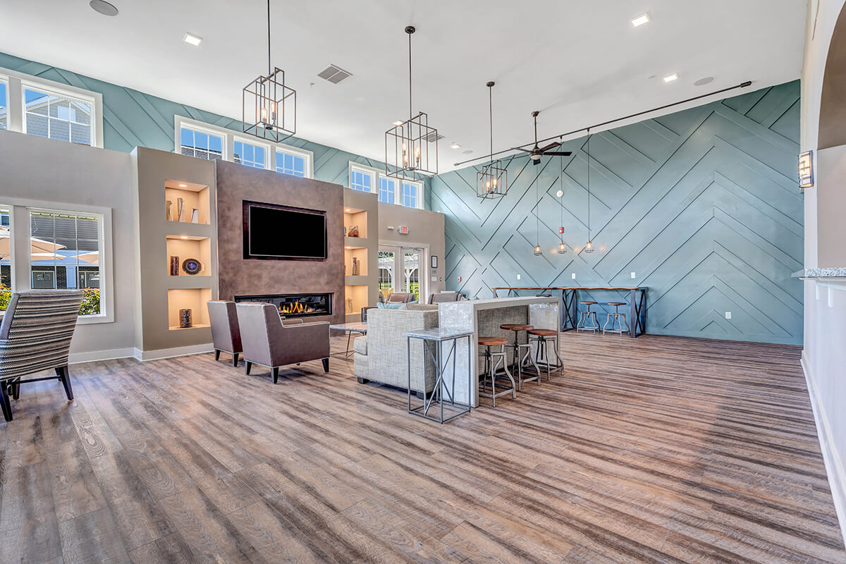 Spacious clubhouse at the River Links.