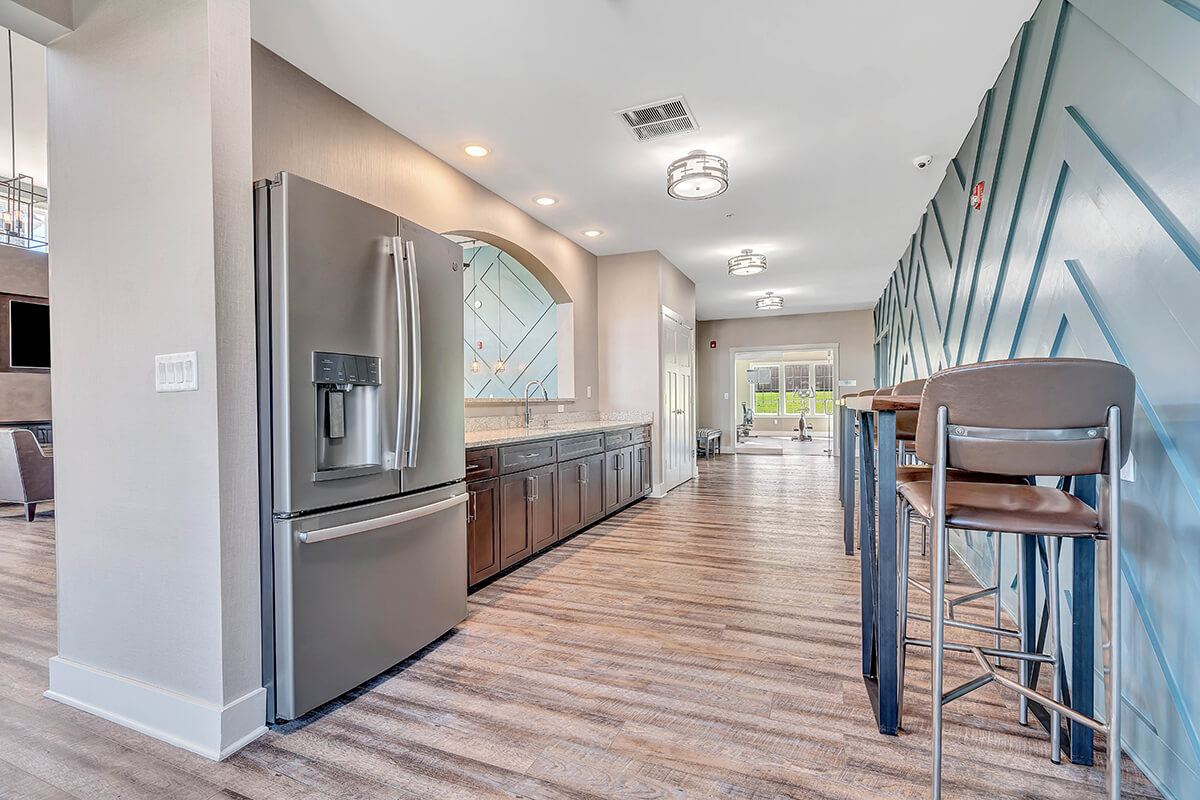 River Links clubhouse kitchen area.