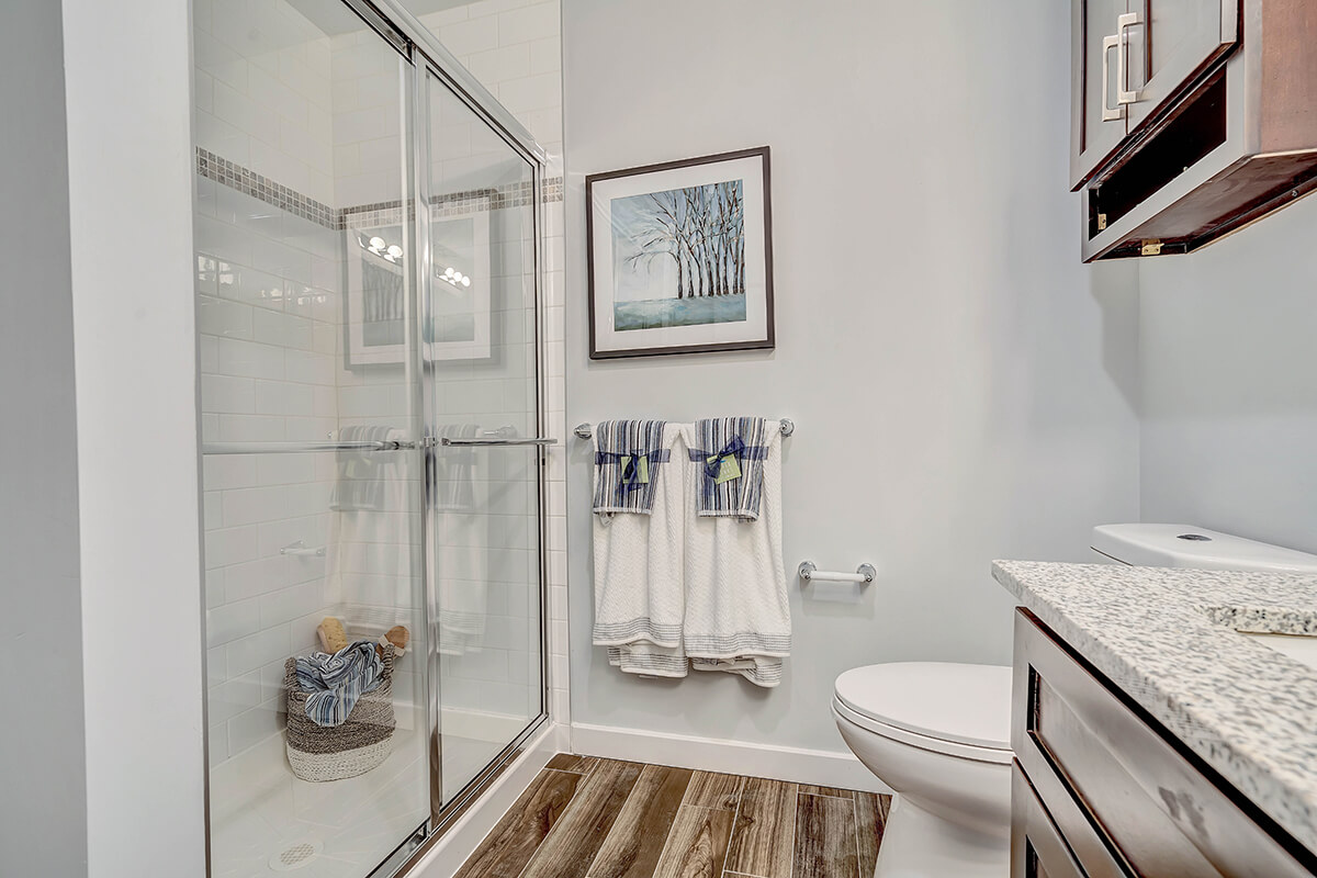 A view of the shower at the River Links.